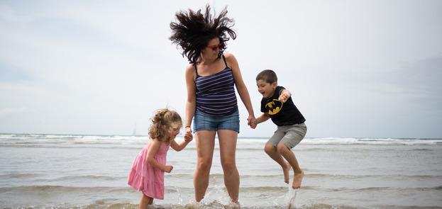Creative family portraits Devon