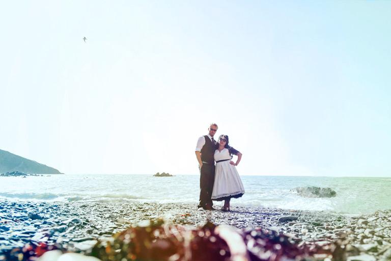 Tunnels Beach Wedding laid back wedding