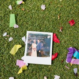 polaroid wedding film