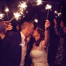 groombridge place wedding sparkler photo